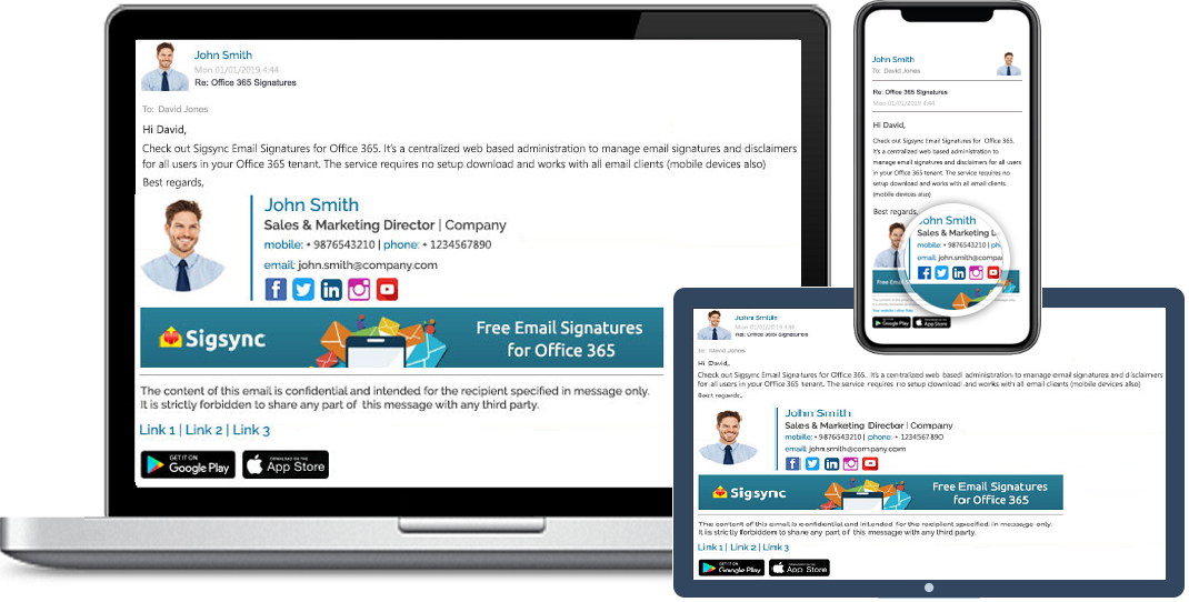 Free Office 365 Email Signature