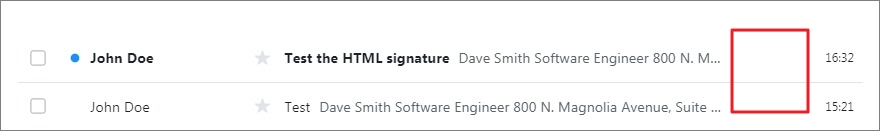 email view with Signature