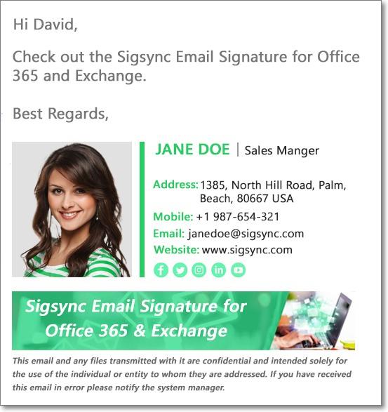 Signature Green color