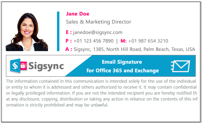Email Signature color